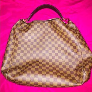 Louis Vuitton Portobello Damier Leather Hobo Bag